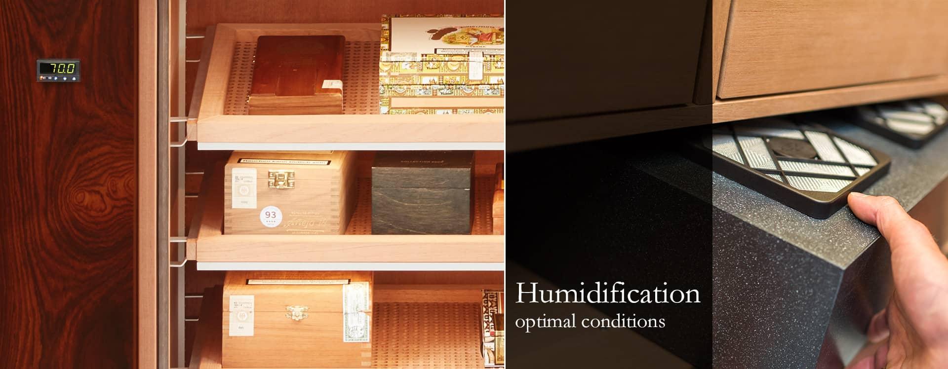 Humidification Gerber Humidor
