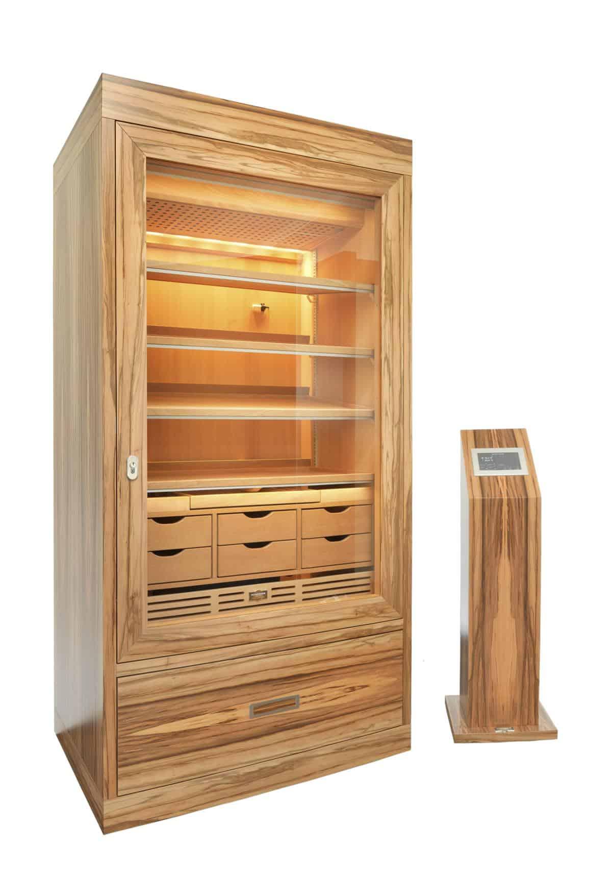 Cabinet Humidor Number One Satin Walnut » GERBER Humidors