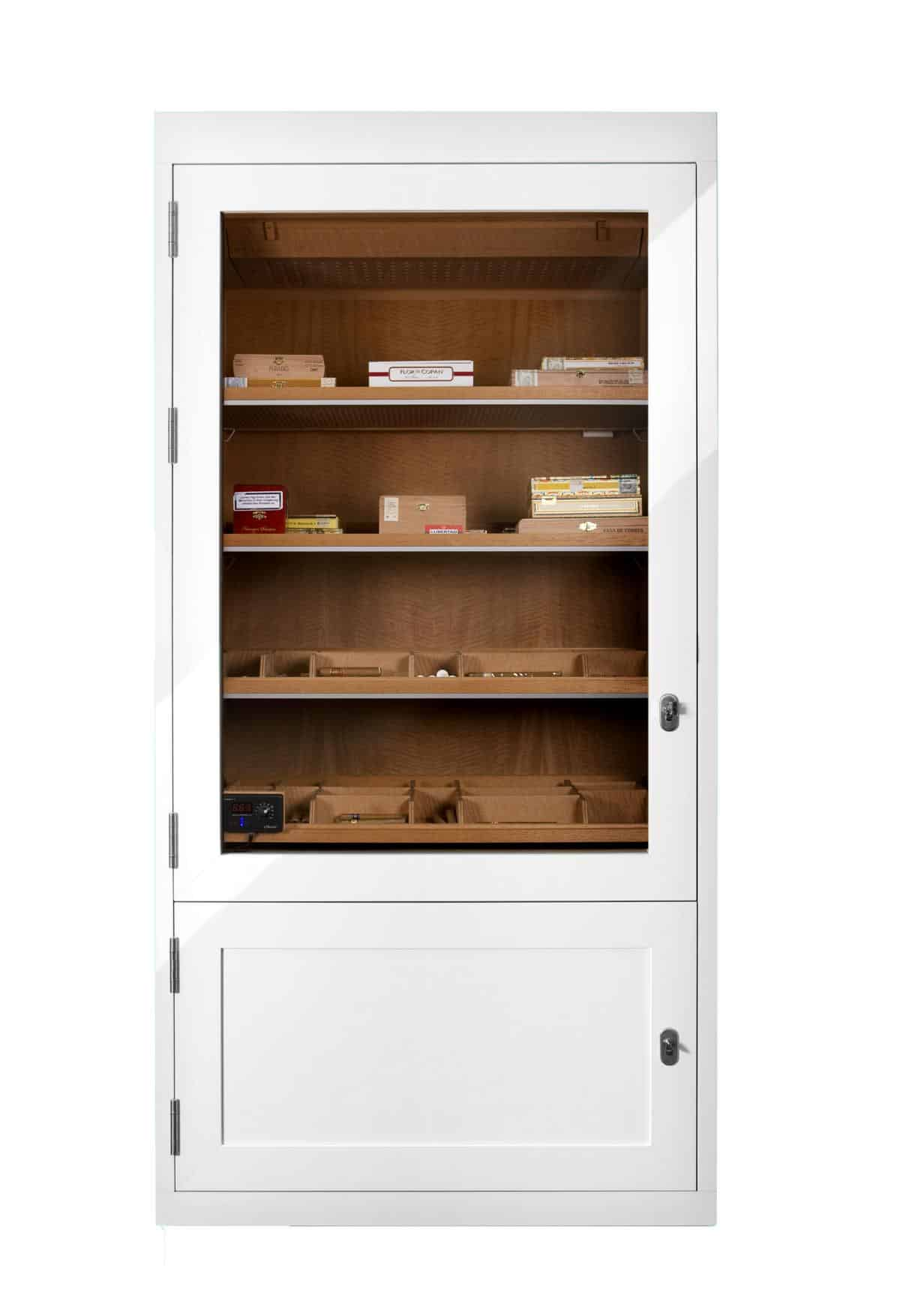 Cabinet Humidor Number One White » GERBER Humidors