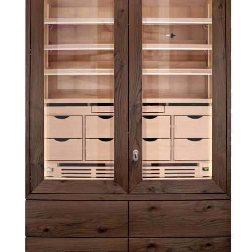Cabinet Humidor Number One XXL Walnut » GERBER Humidors