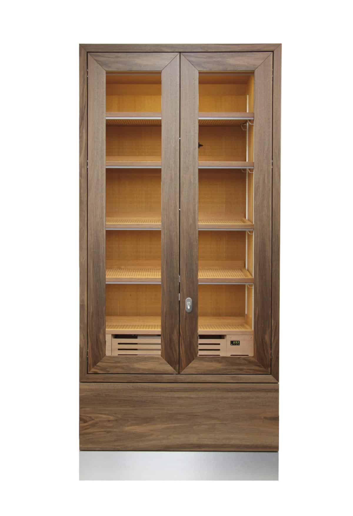 Cabinet Humidor Number One Walnut » GERBER Humidors