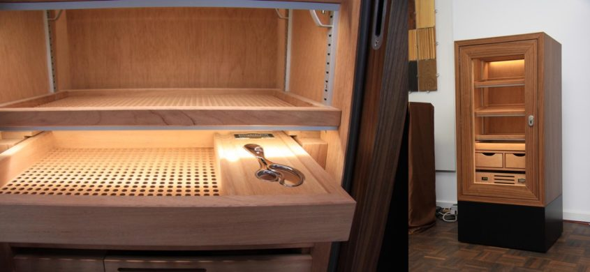 Humidor with electronic controlled humidity for Canada