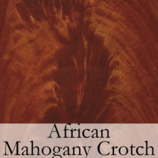 African Mahogany Crotch
