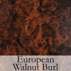 European Walnur Burl