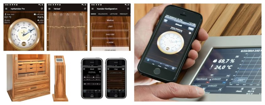 new app for your smart phone controlling the humidor