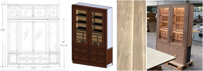 high-quality cigar cabinet humidification for cigars